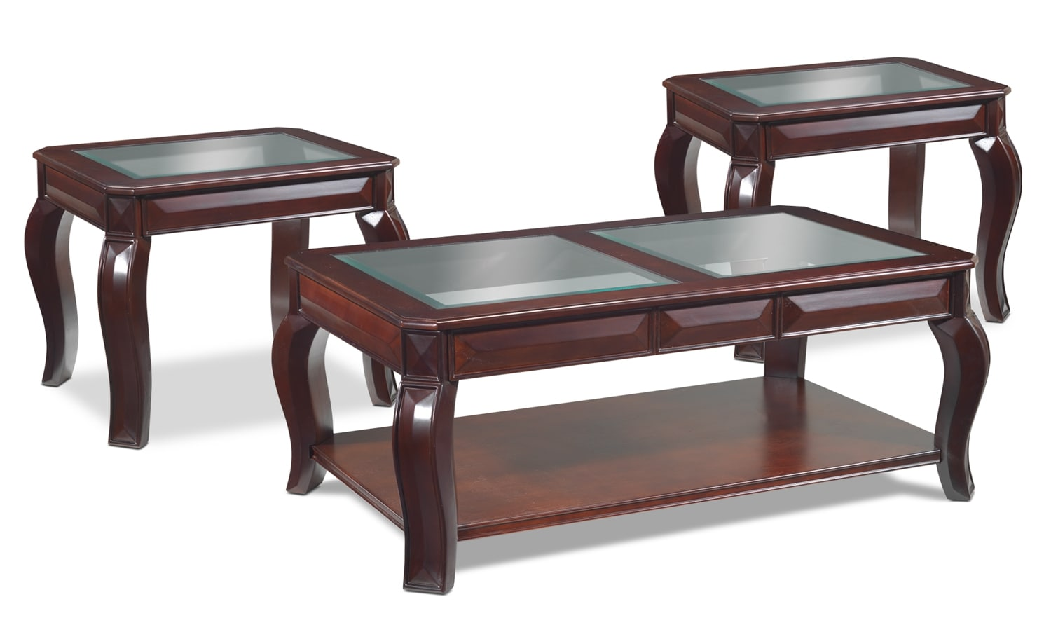 Accent and Occasional Furniture - Jamison Coffee Table and Two End Tables - Deep Espresso
