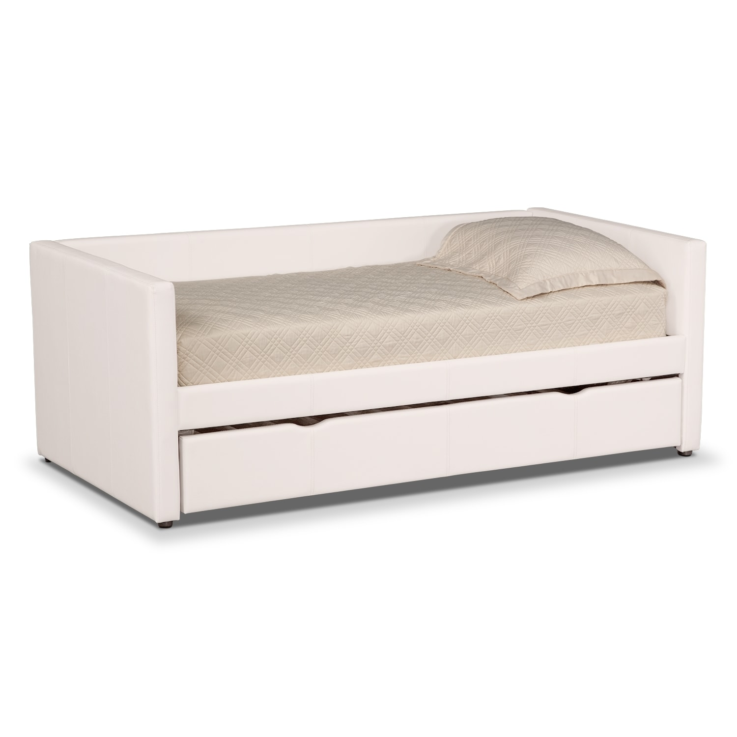 Carey iv twin daybed with trundle value city furniture Daybeds with storage