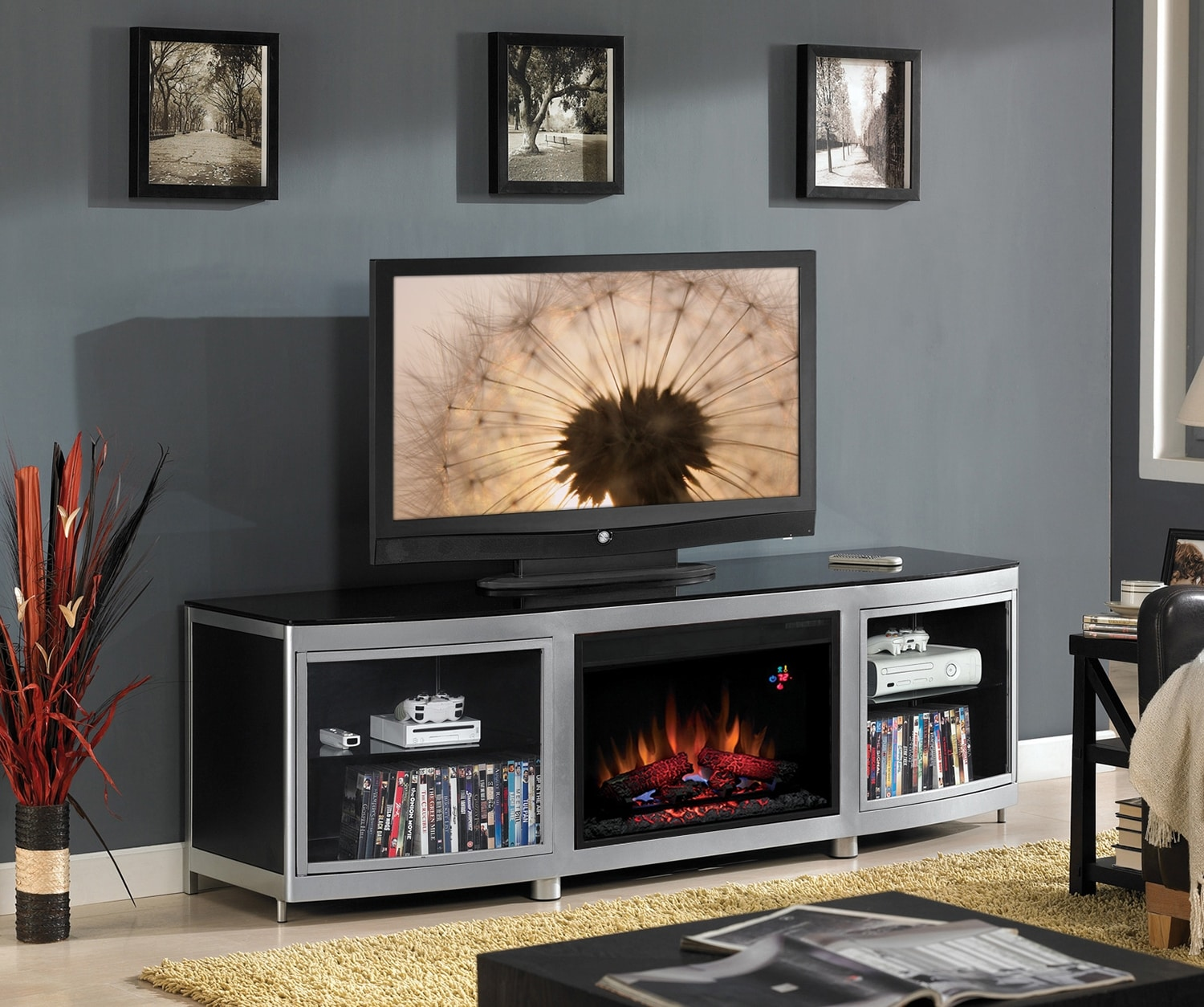 entertainment wall units with fireplace quotes