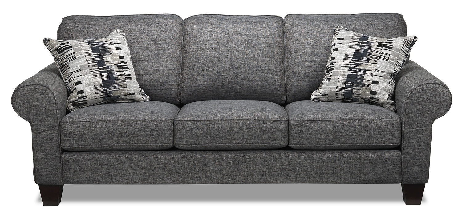 Living Room Furniture - Drake Sofa - Grey