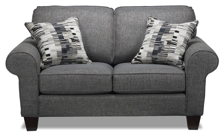Living Room Furniture - Drake Loveseat - Grey