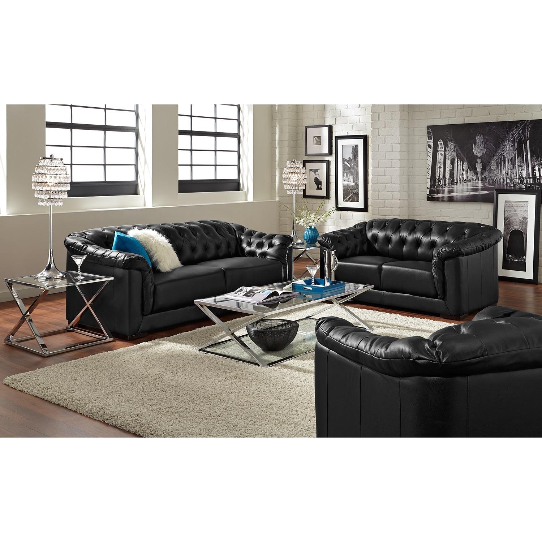 Giorgio ii leather 2 pc living room value city furniture