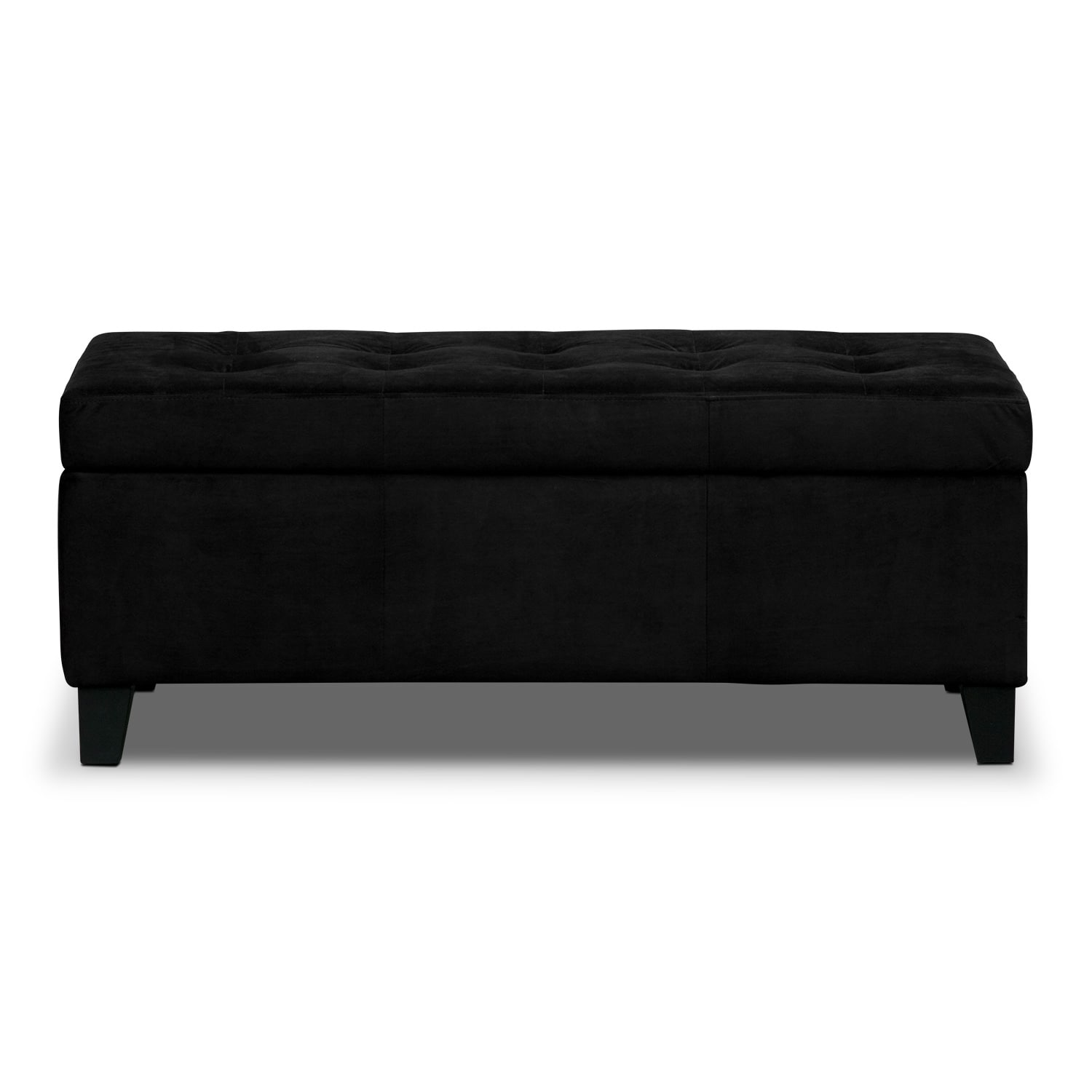 Valerie storage bench black american signature furniture Storage benches
