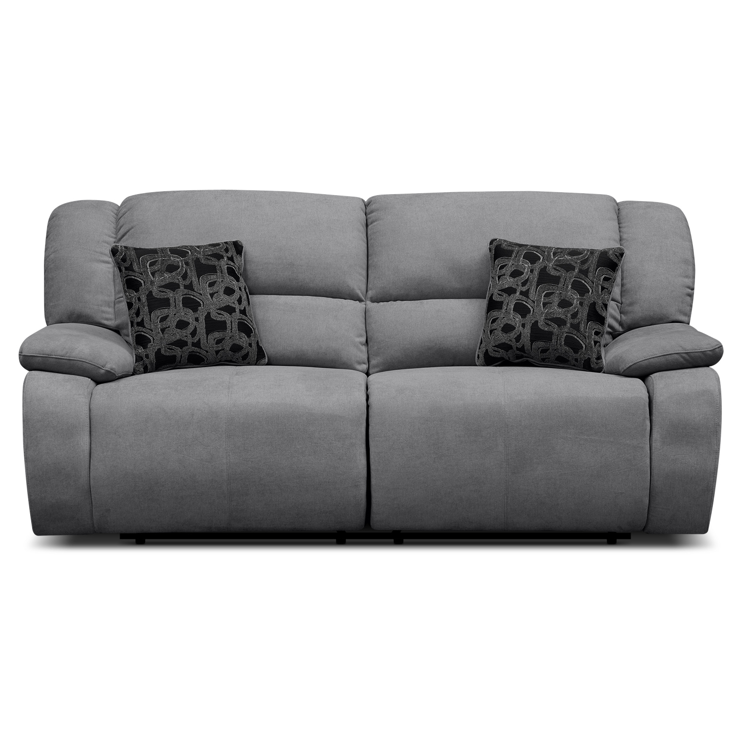 Fortuna gray power reclining sofa for Grey sofa and chair