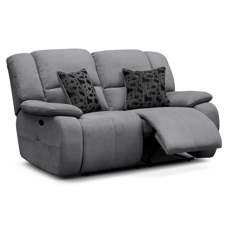 Gray Recliner Sofa Smileydot Us