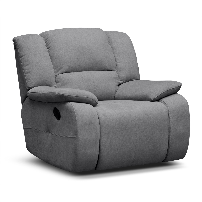 Destin Gray Upholstery Glider Recliner Value City Furniture