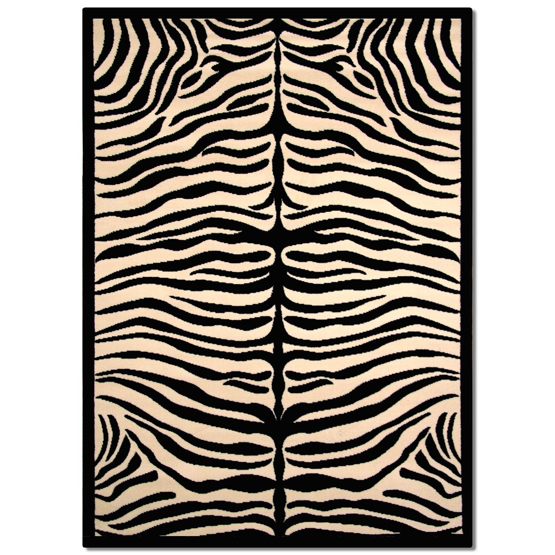 Terra Zebra Area Rugs Area Rug 5 X 8 American