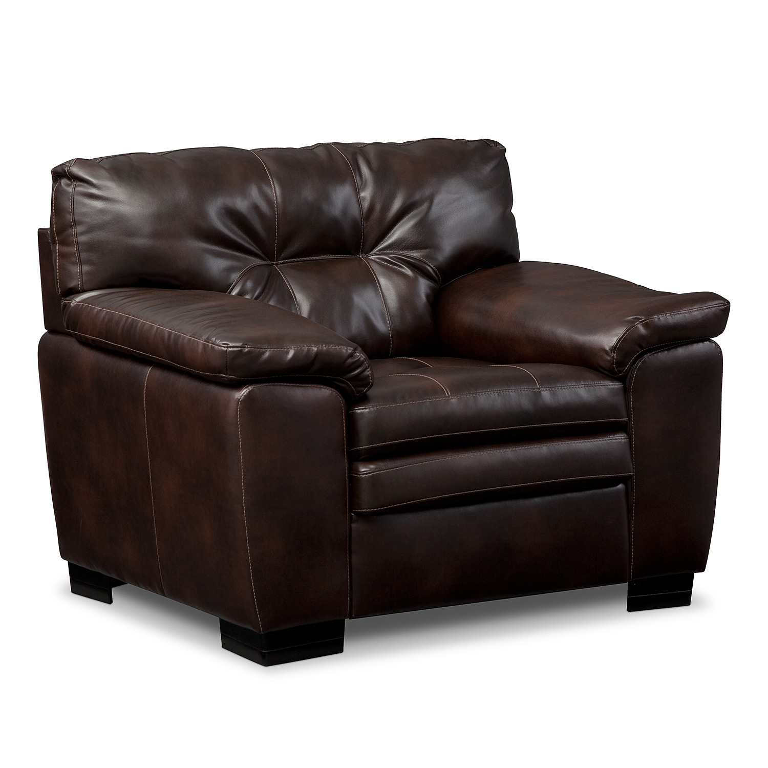 Living Room Furniture - Revere Brown Chair