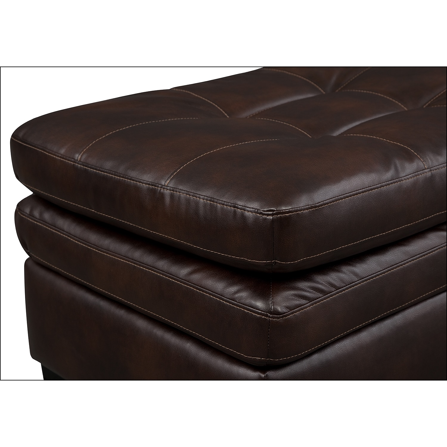 Legend Brown Leather Ottoman Value City Furniture