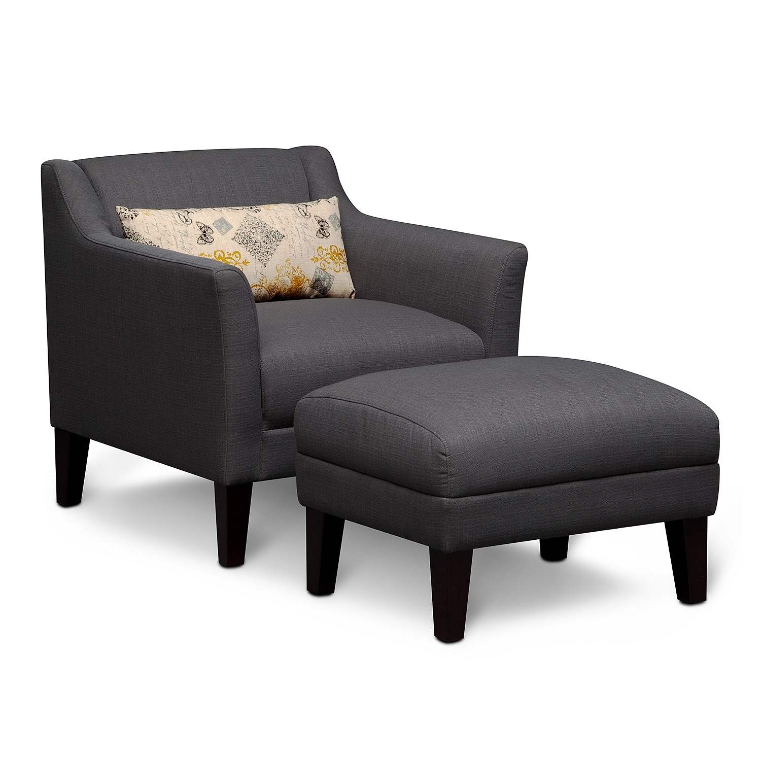 Living room accent chairs with arms - Living Rooms The Elizabeth Collection Accent Chair Ottoman