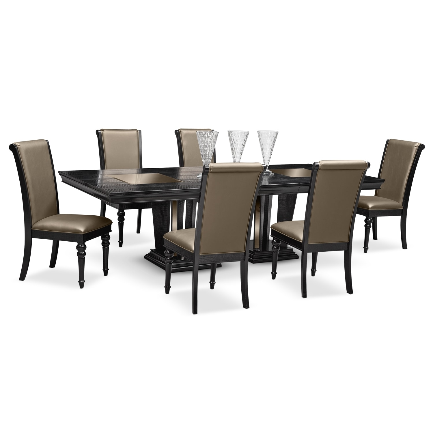 Dining Room Furniture Paradiso 7 Pc Dining Room