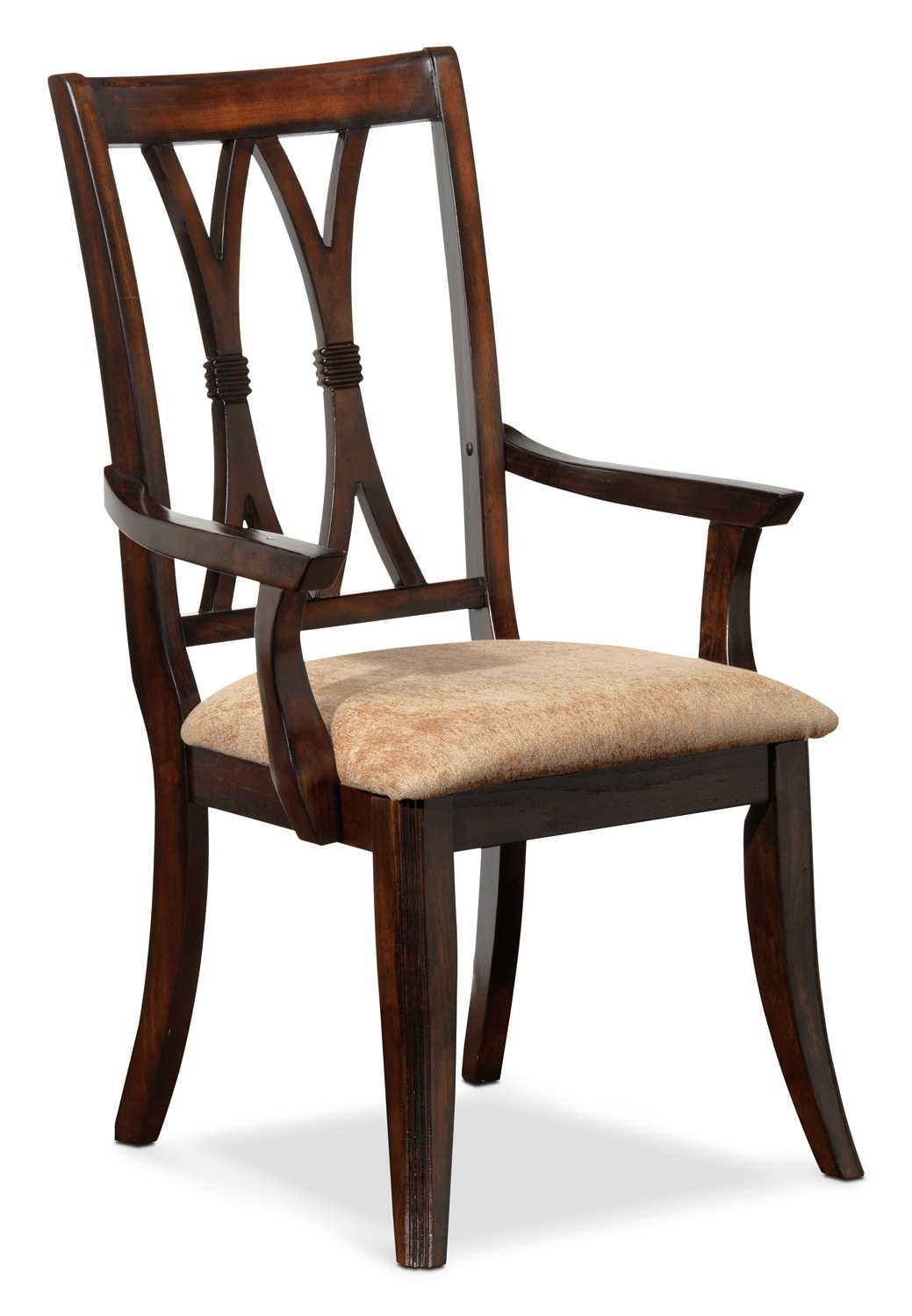 Dining Room Furniture - King George Arm Chair - Brown Cherry