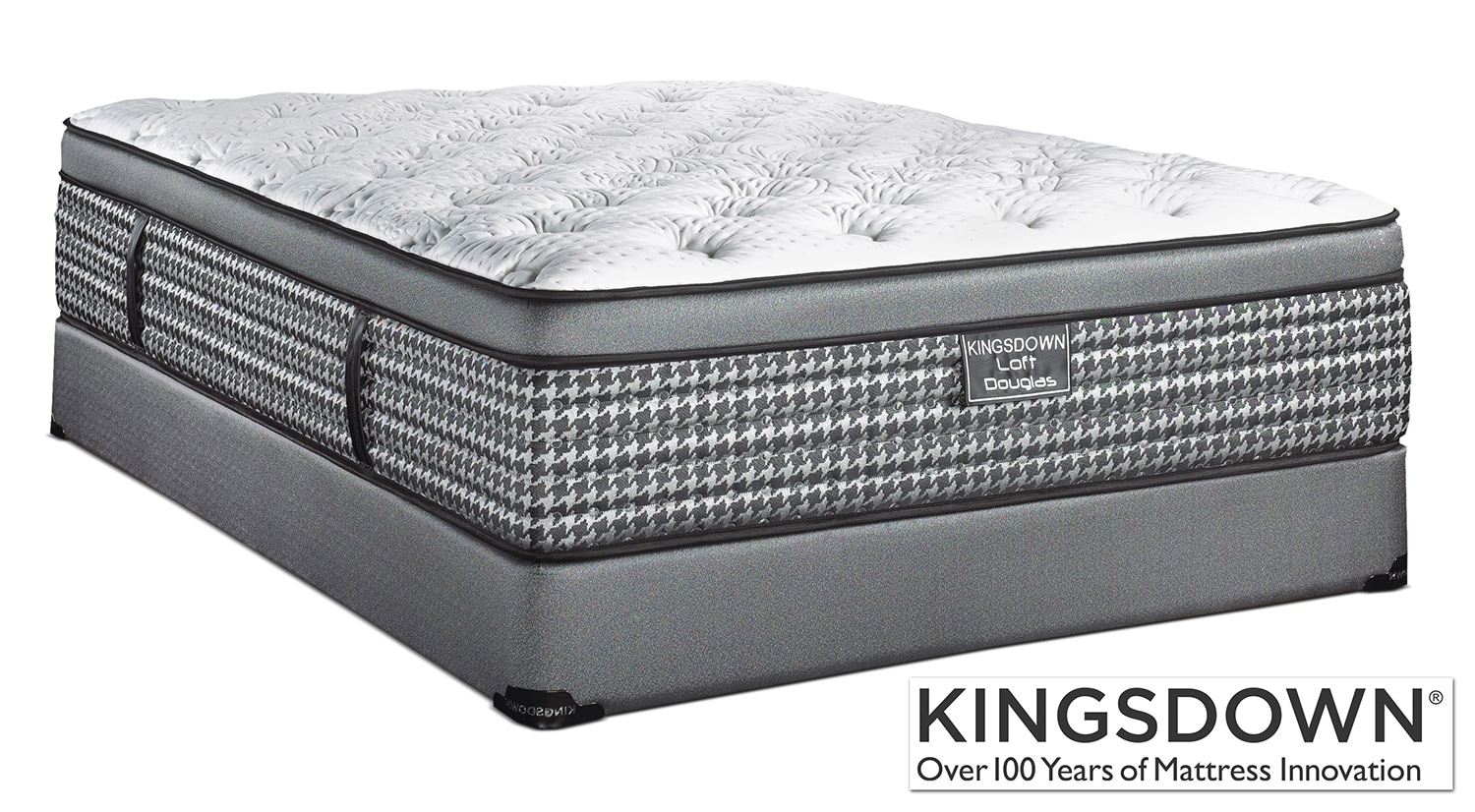 Mattresses and Bedding - Kingsdown Douglas Twin Mattress/Boxspring Set