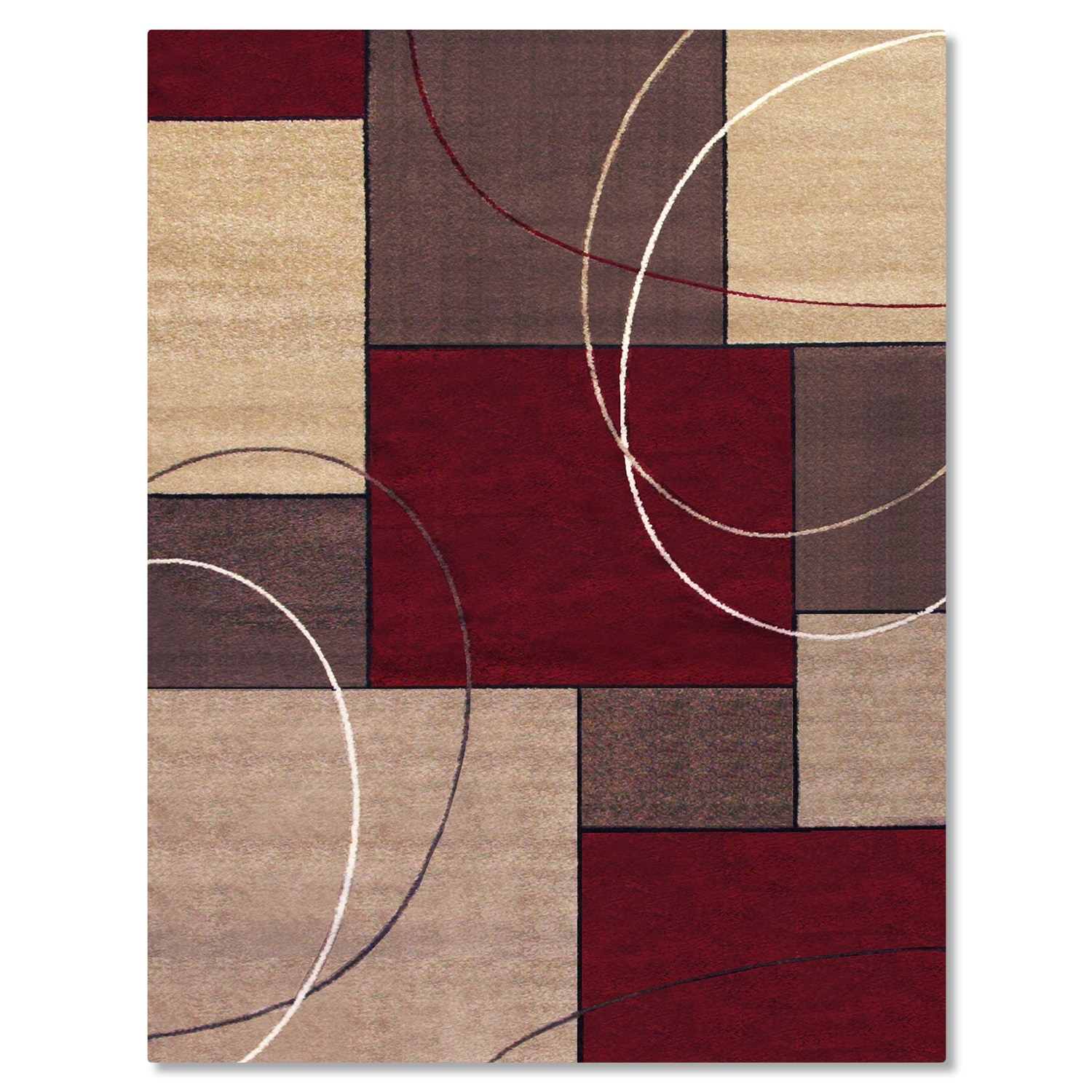 Casa Circles & Squares Area Rug (8' x 10') | Value City ...