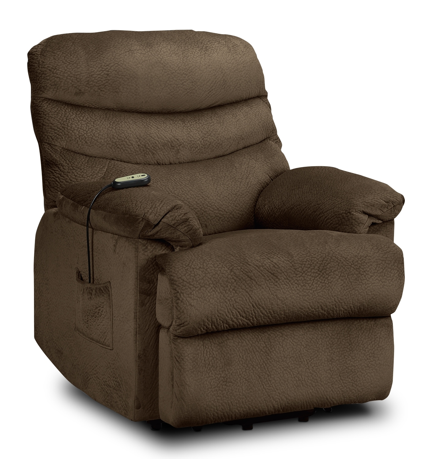 Living Room Furniture - Bradey Power Lift Recliner - Mocha
