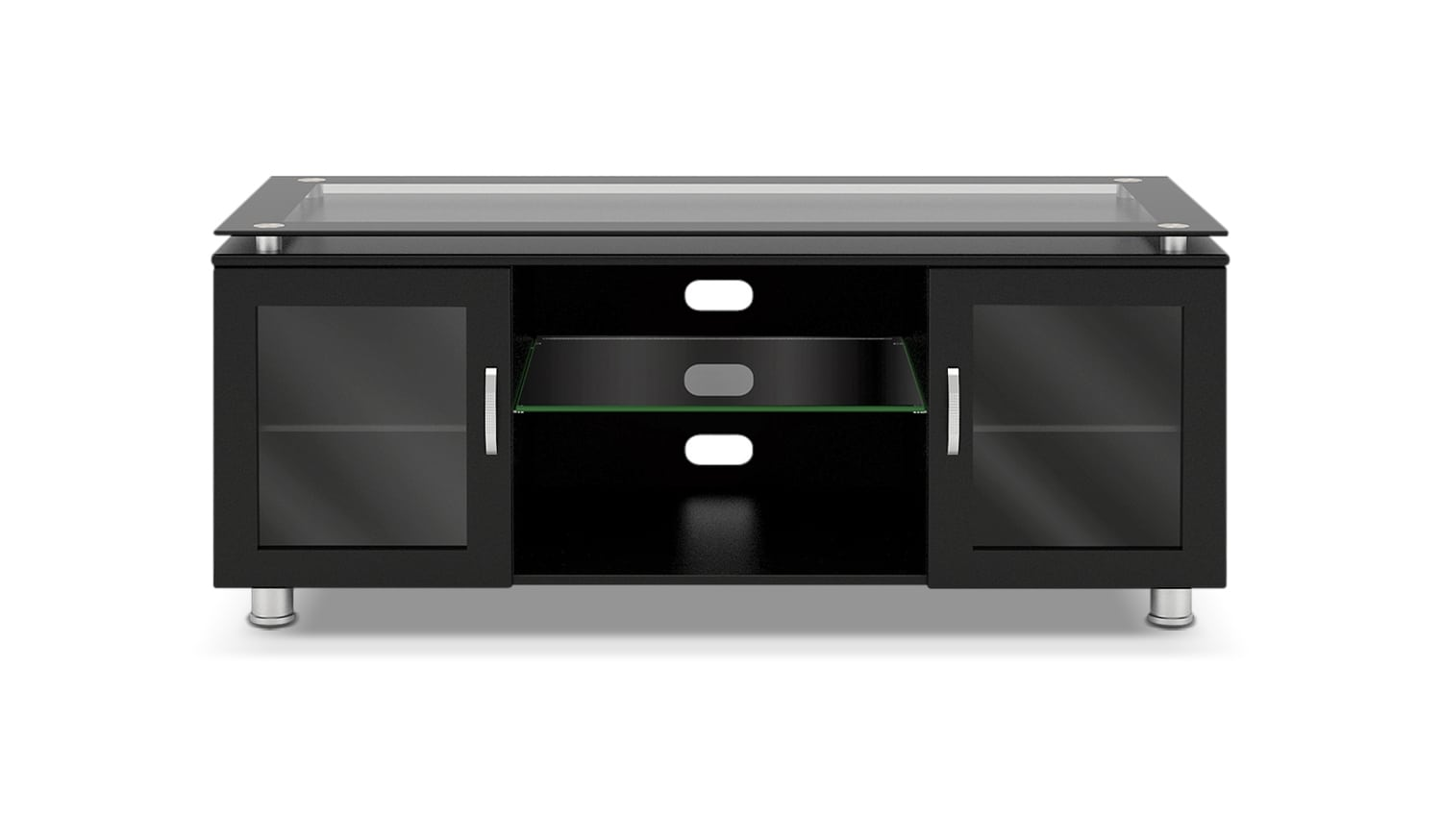 "Televisions - Alora 48"" TV Stand - Gloss Black"