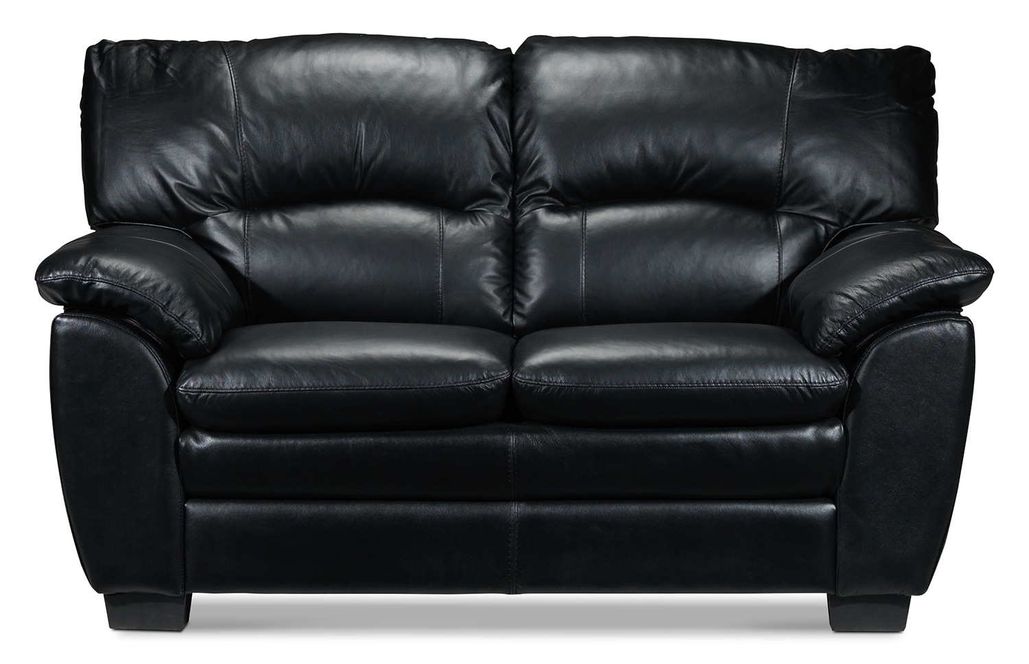 Living Room Furniture - Rodero Loveseat - Black