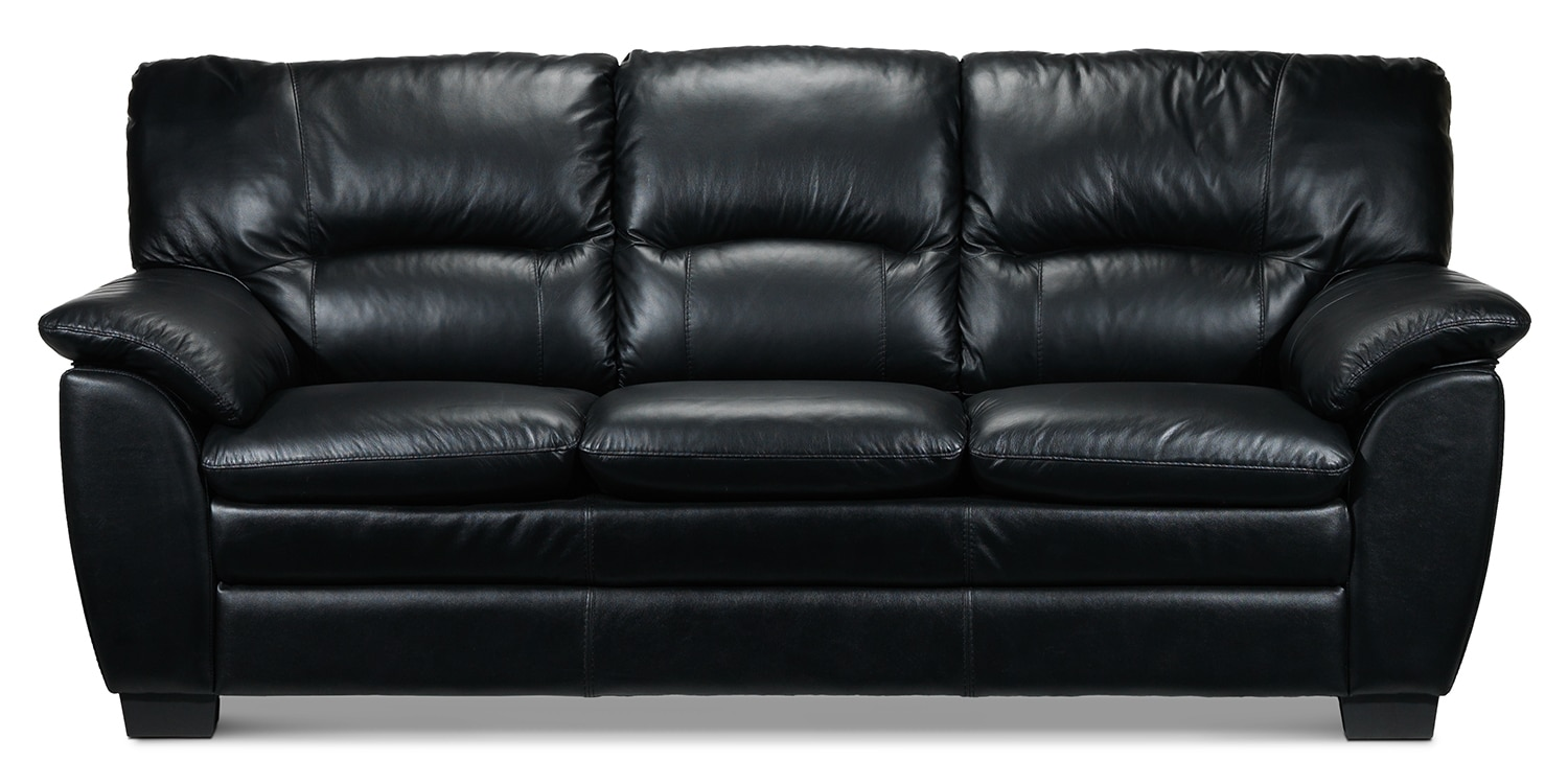 Living Room Furniture - Rodero Sofa - Black