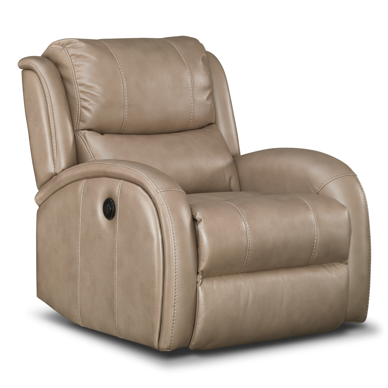 American Signature Furniture Corsica Leather Power Recliner