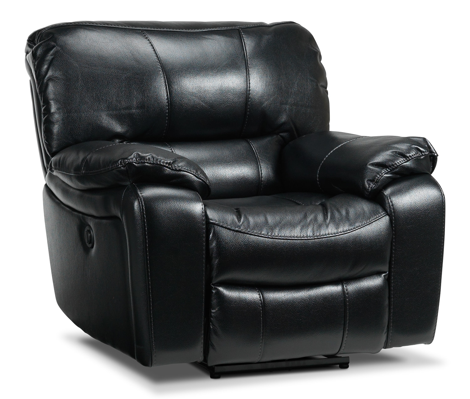 Living Room Furniture - Santorini Power Recliner - Black