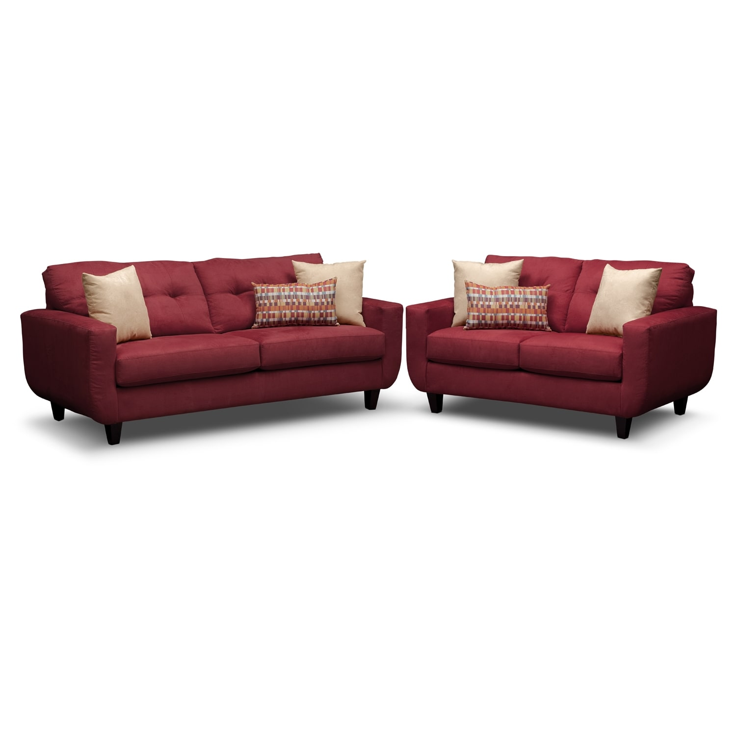 [West Village Red 2 Pc. Living Room]