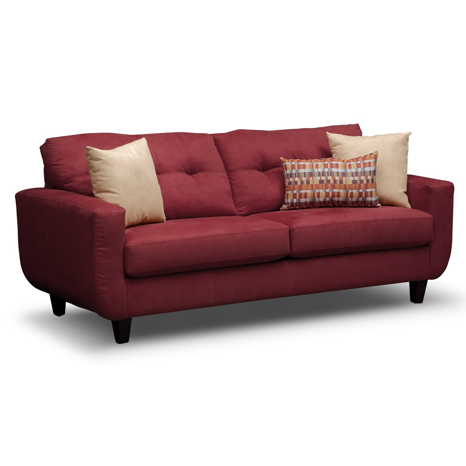 Living Room Furniture - Walker Red Sofa