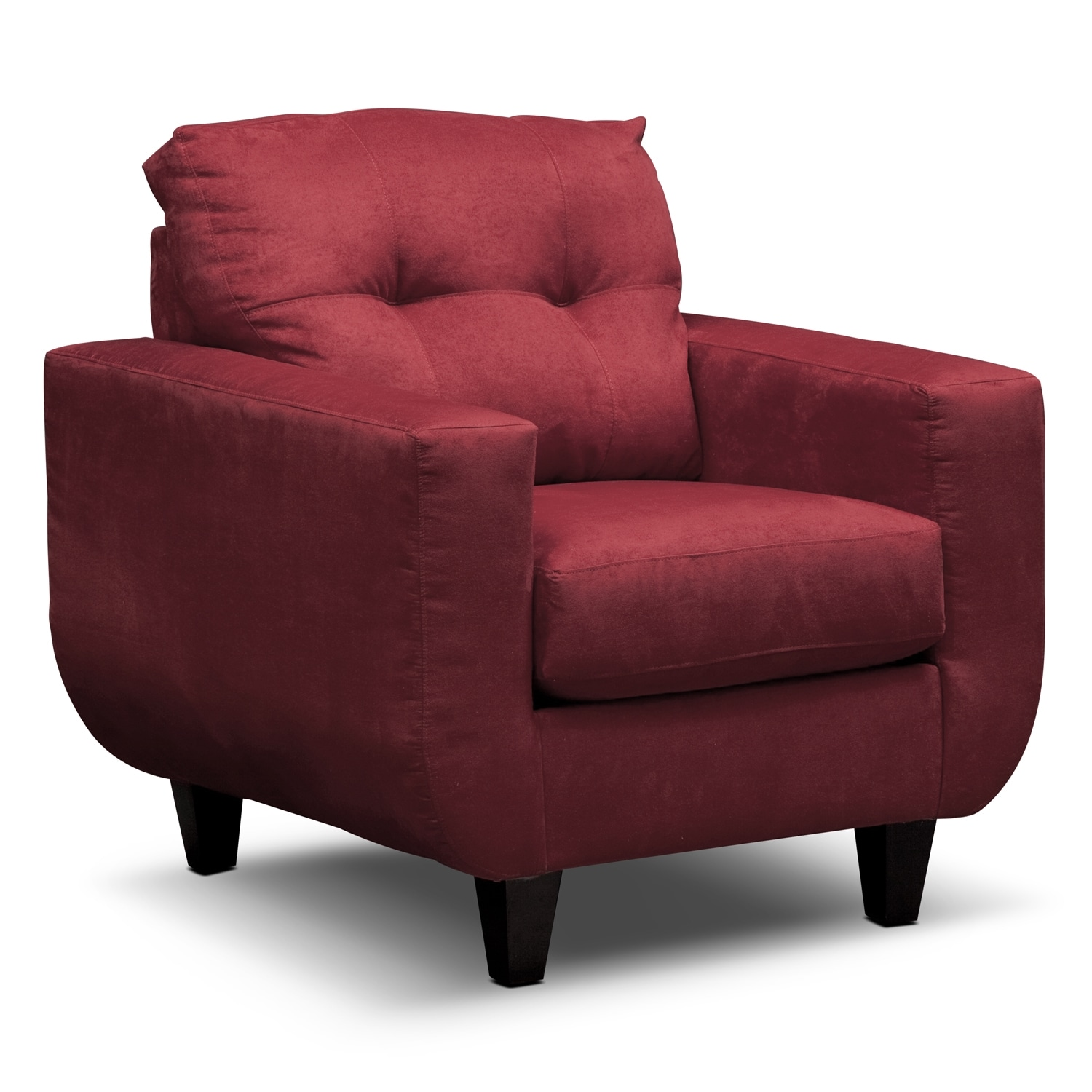 Living Room Furniture - Walker Red Chair