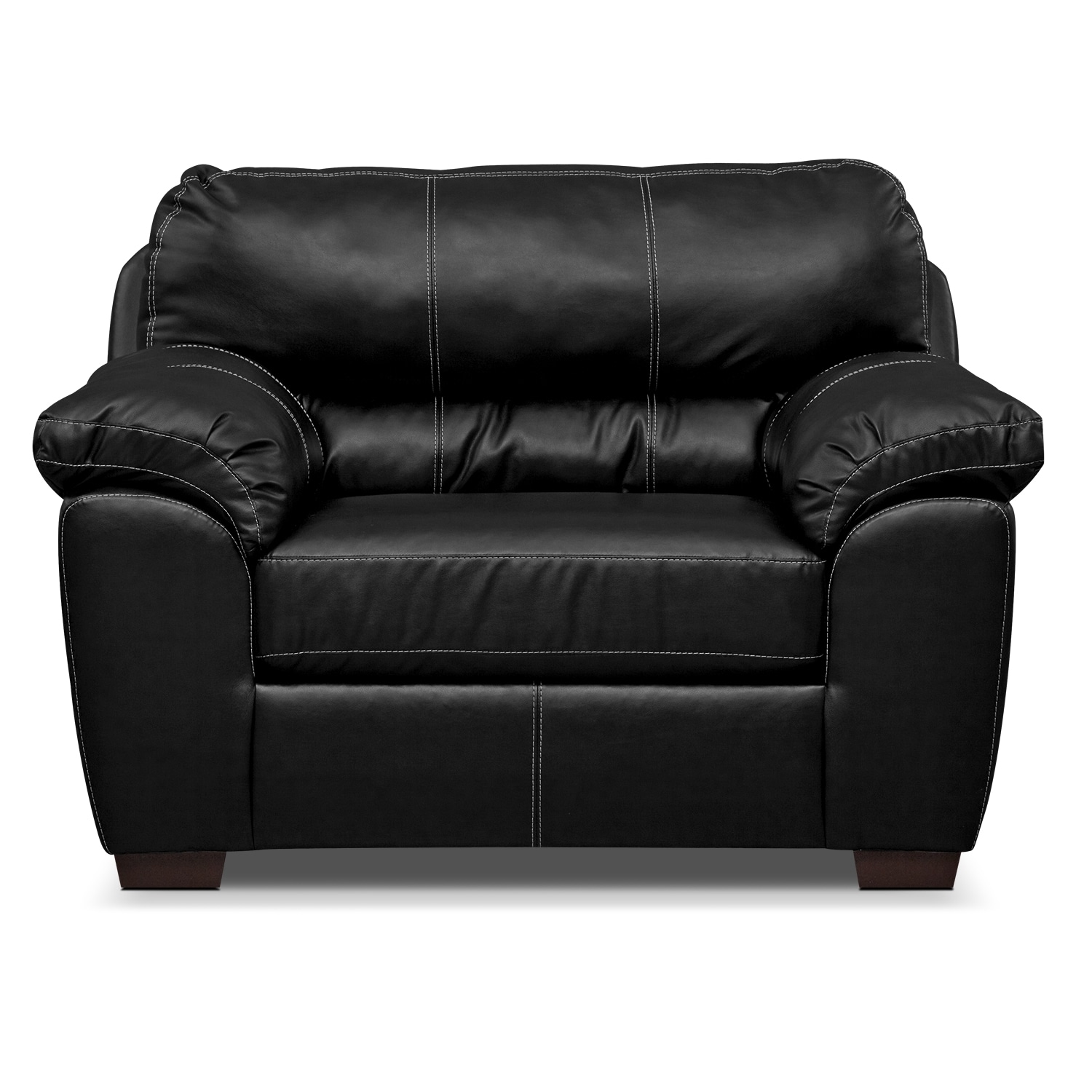 colton leather chair and a half value city furniture