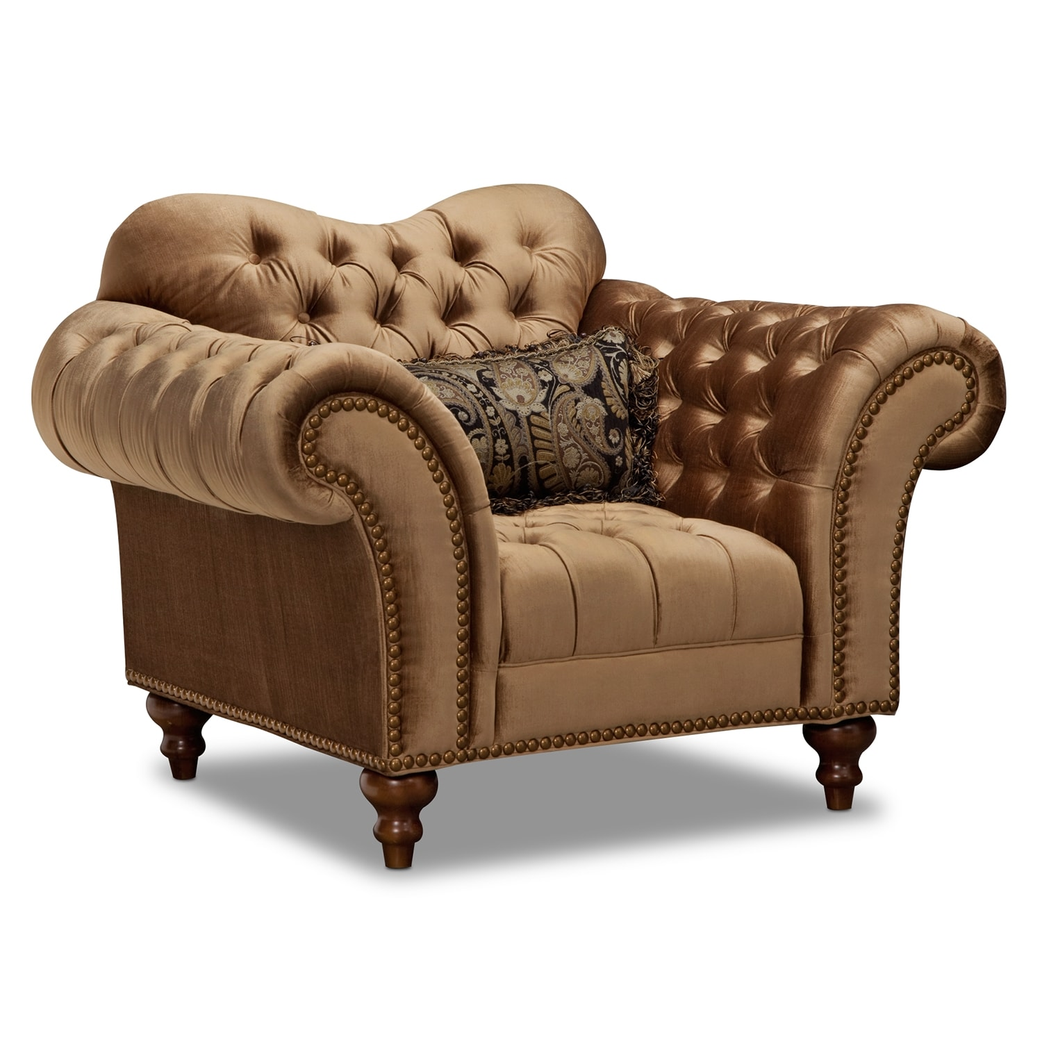 Brittney Sofa Chaise And Chair Set Bronze Value City
