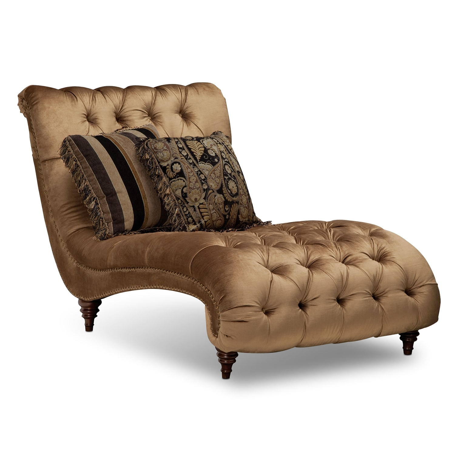 appealing living room chaise lounge | Brittney Sofa, Chaise and Chair Set - Bronze | Value City ...