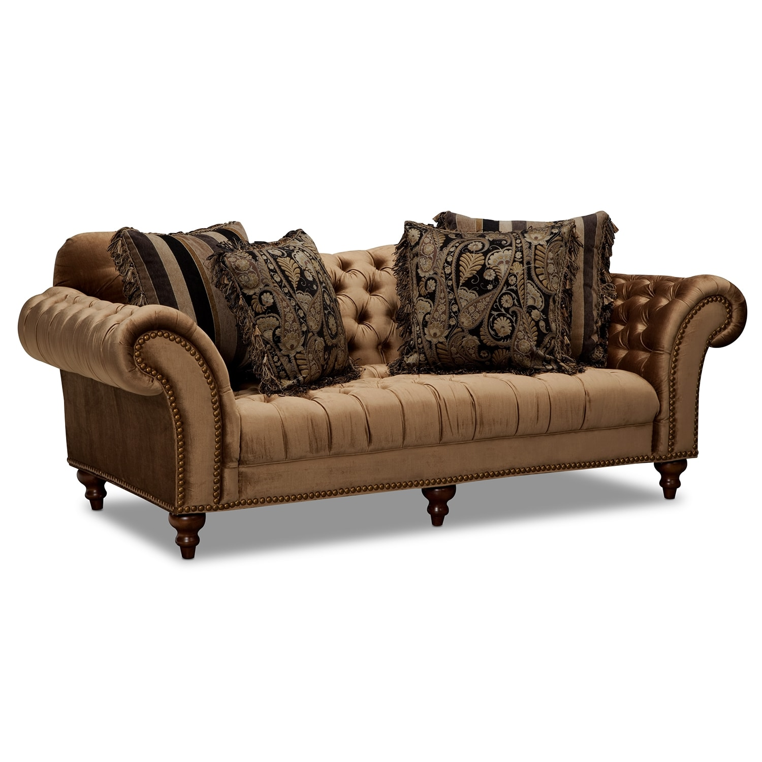 City Furniture Sofas: Brittney Sofa And Chaise Set - Bronze