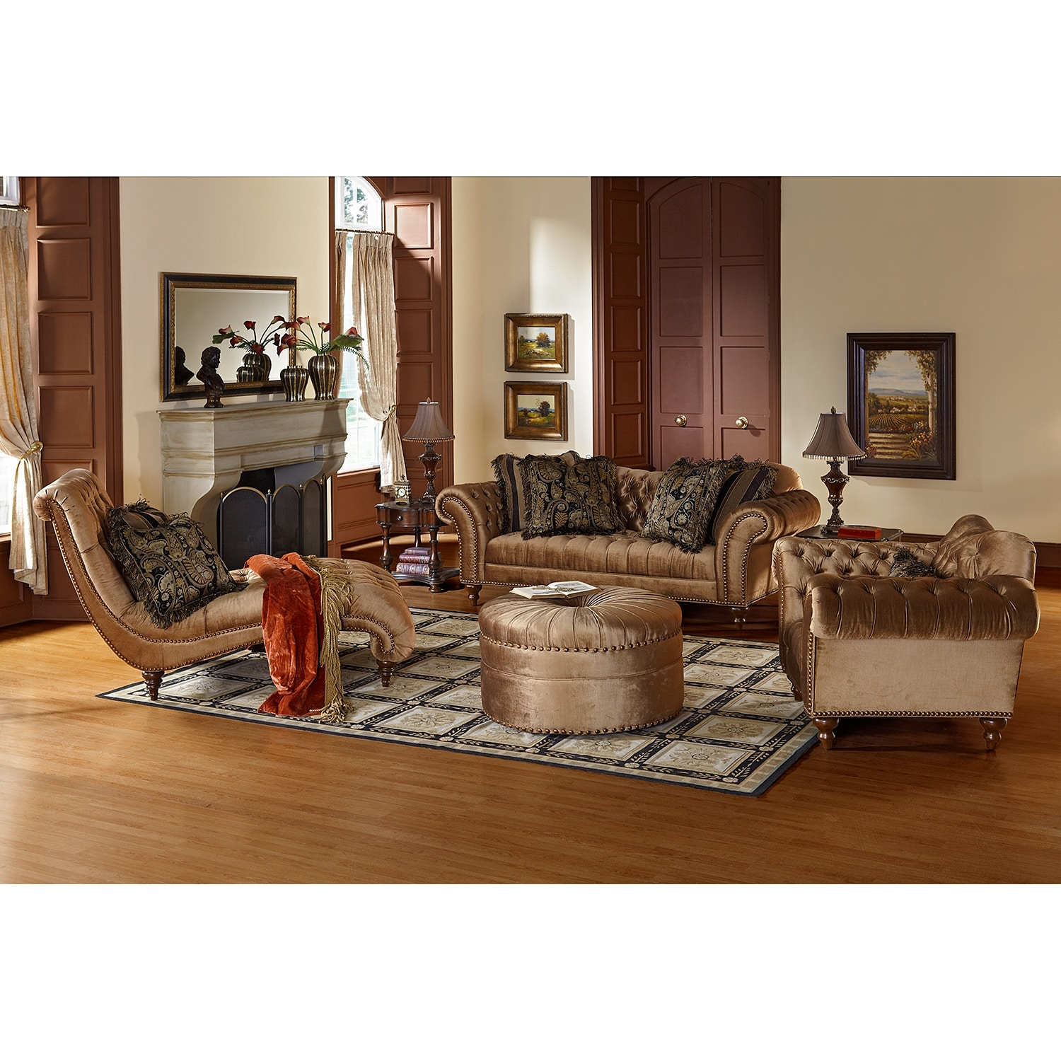 Brittney Upholstery 2 Pc Living Room W Chaise American Signature Furniture