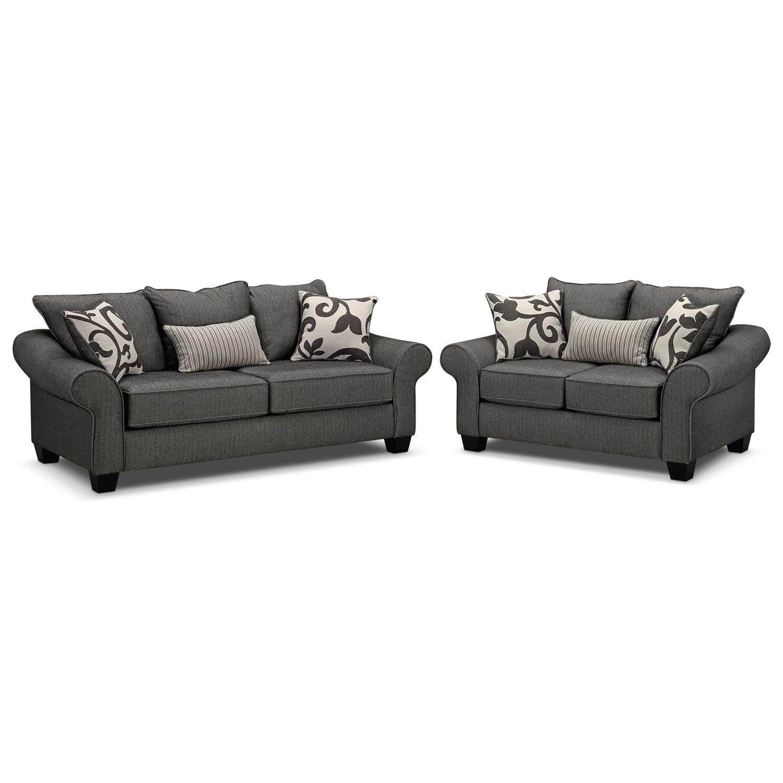 [Colette Gray 2 Pc. Living Room]