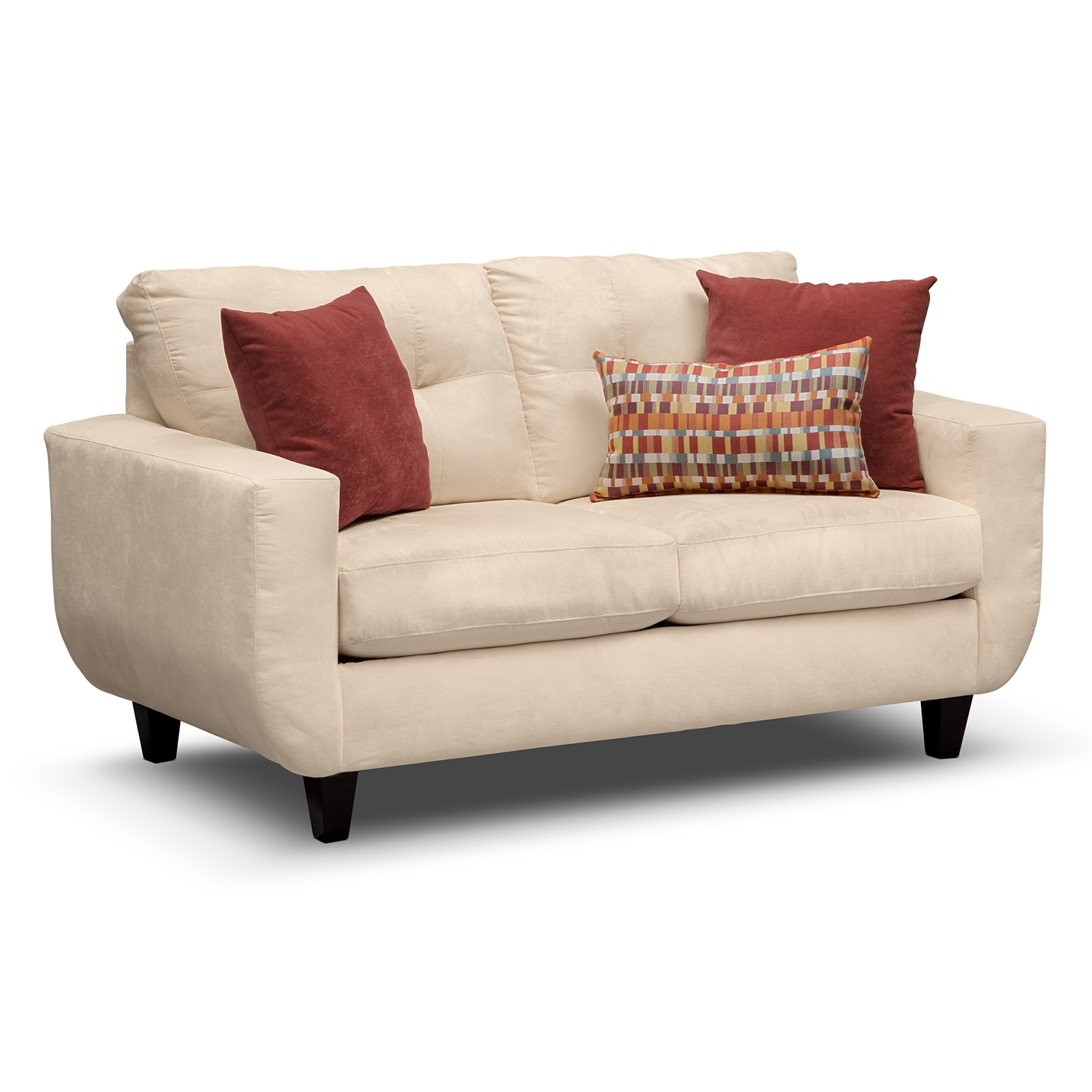 Living Room Furniture - Walker Cream Loveseat