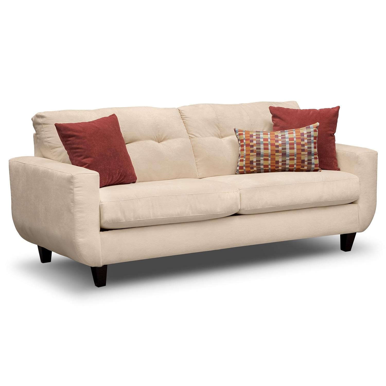 Living Room Furniture - Walker Cream Sofa