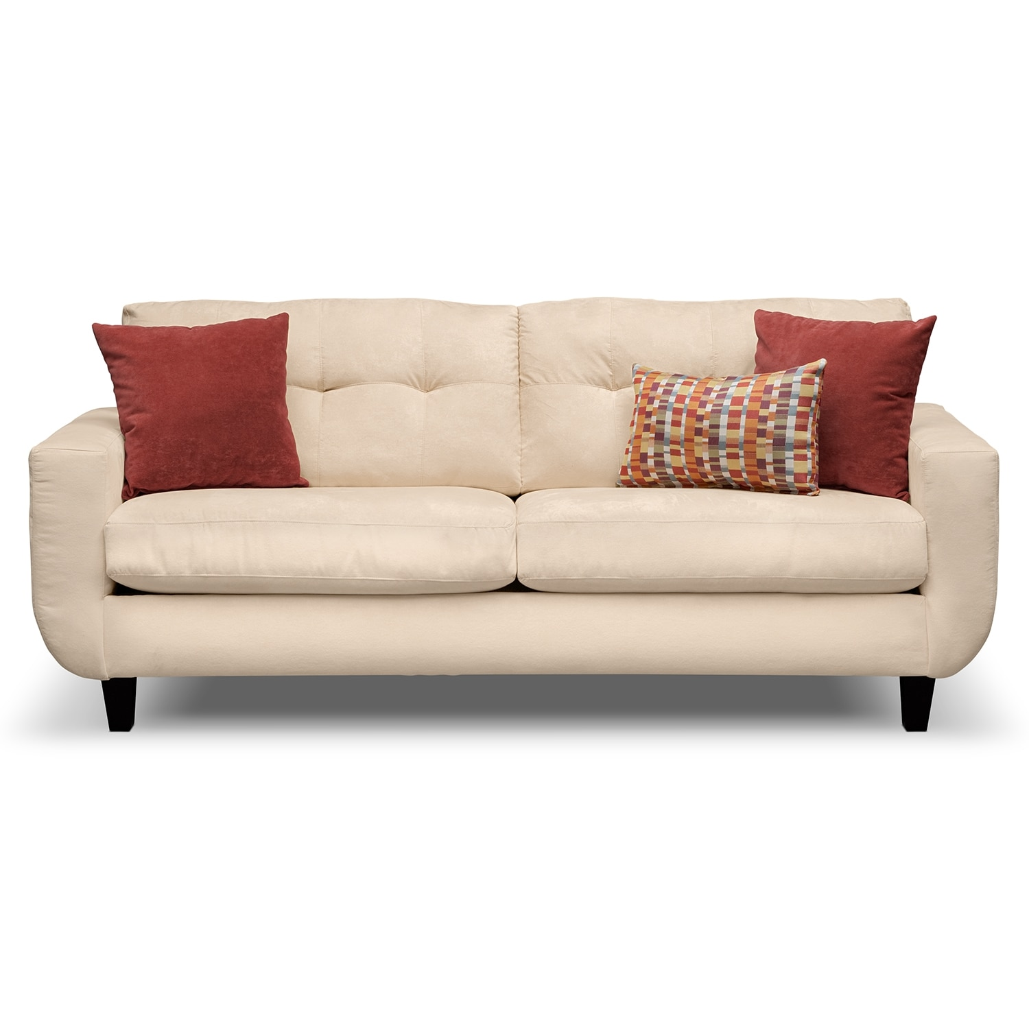 West Village Cream Upholstery Sofa Value City Furniture