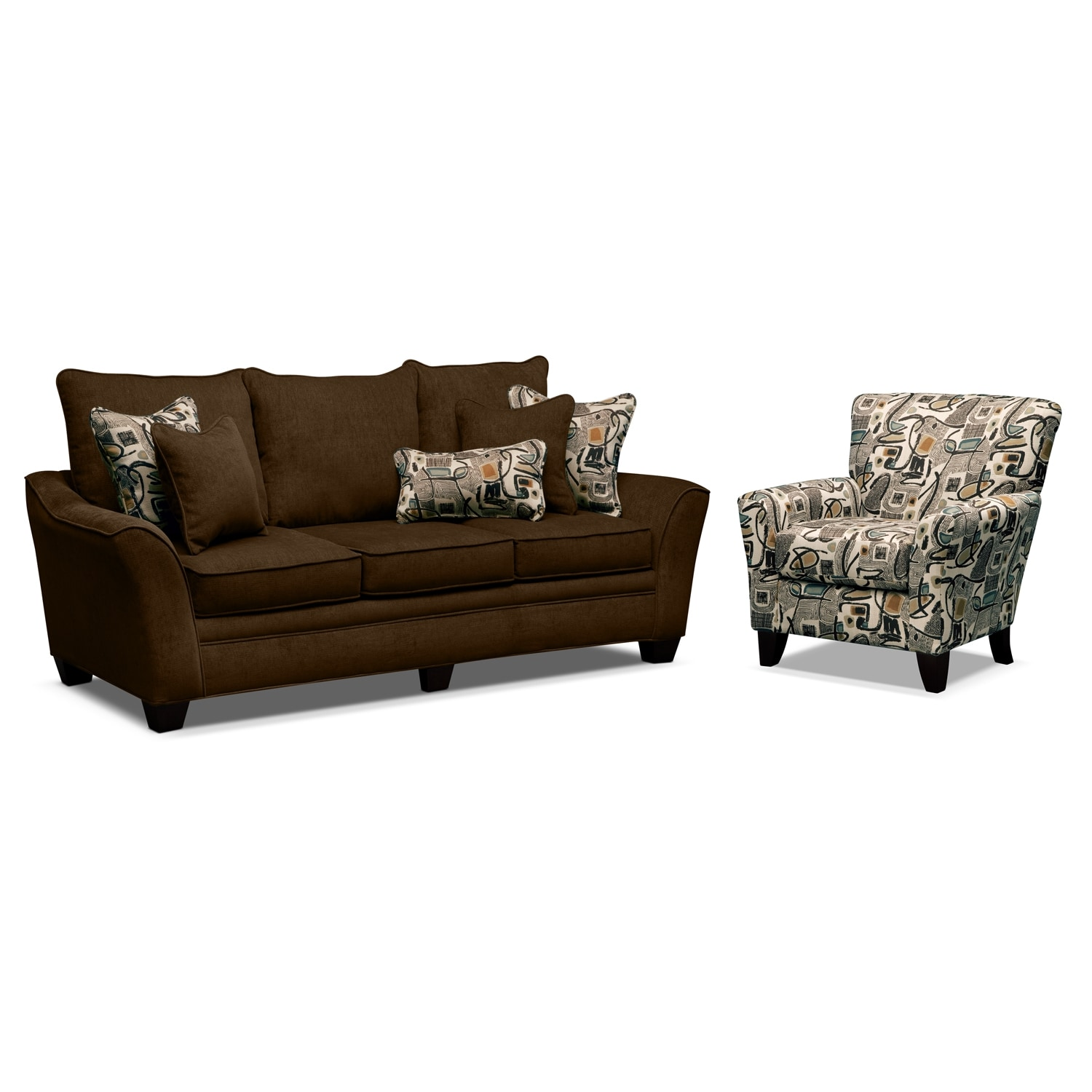 mandalay 2 pc living room w accent chair value city furniture