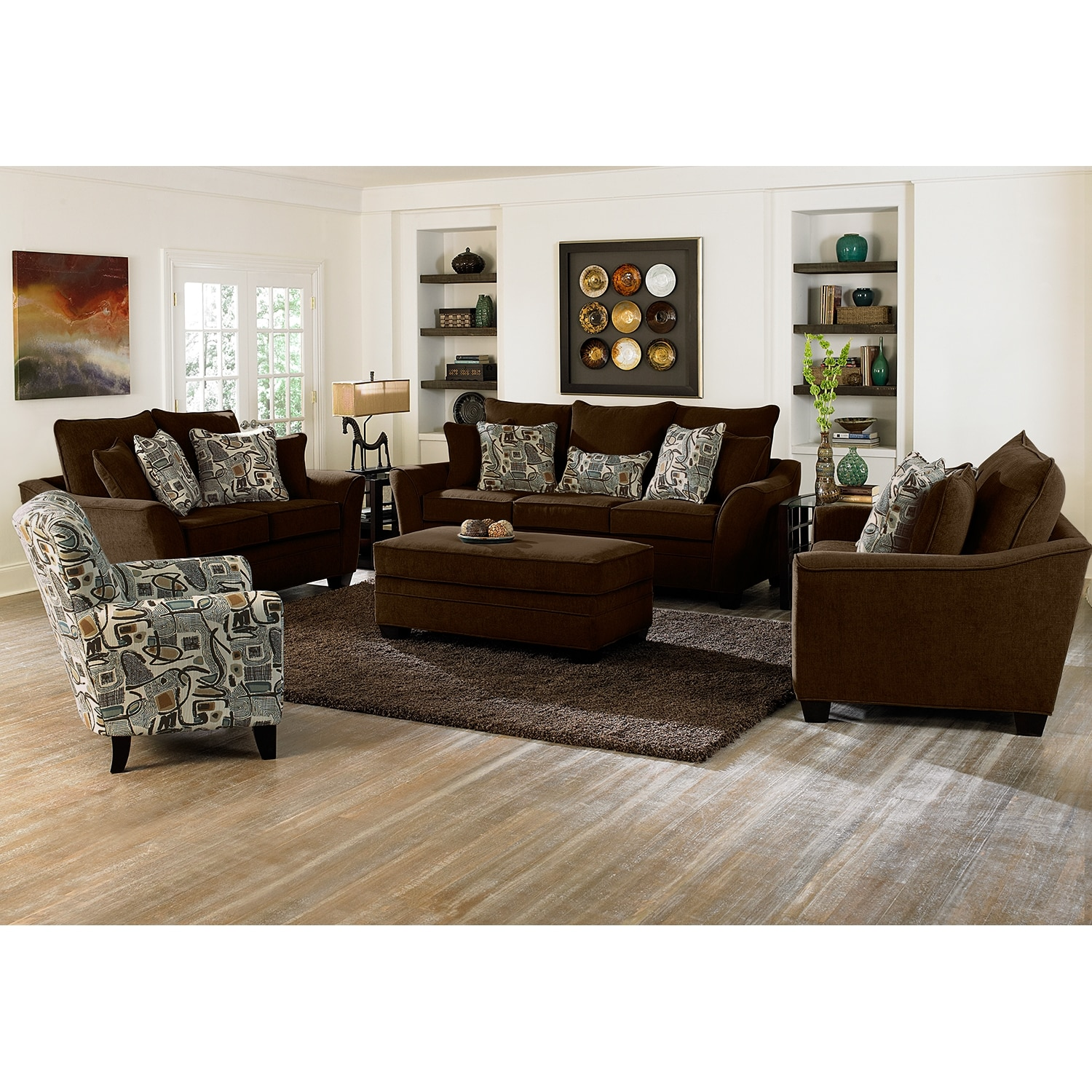 Mandalay 2 pc living room waccent chair value city furniture