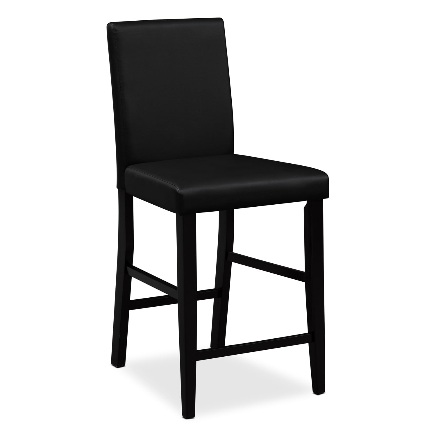 Shadow Counter Height Stool Black Value City Furniture