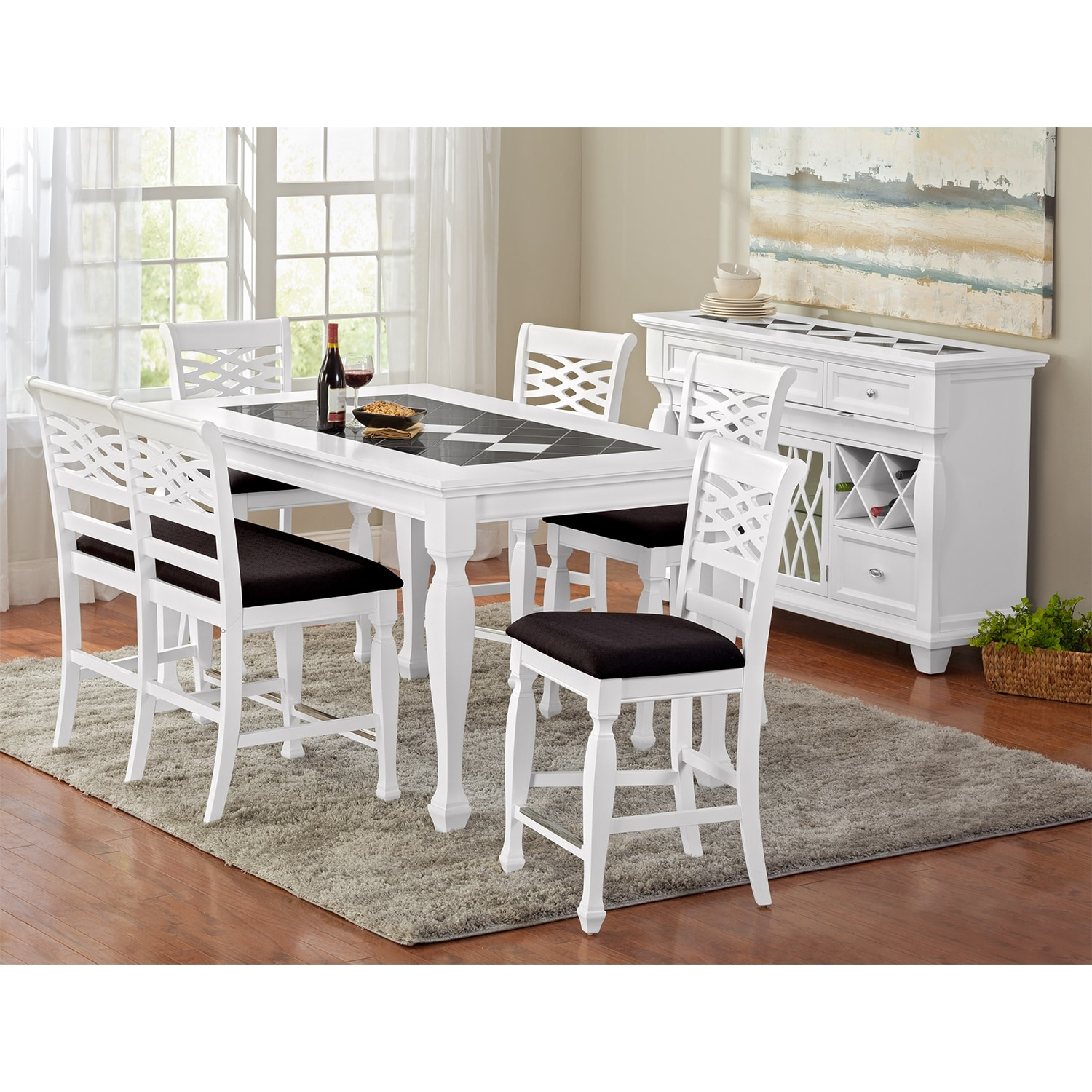 HD wallpapers nova espresso 3 piece kitchen counter height dining set