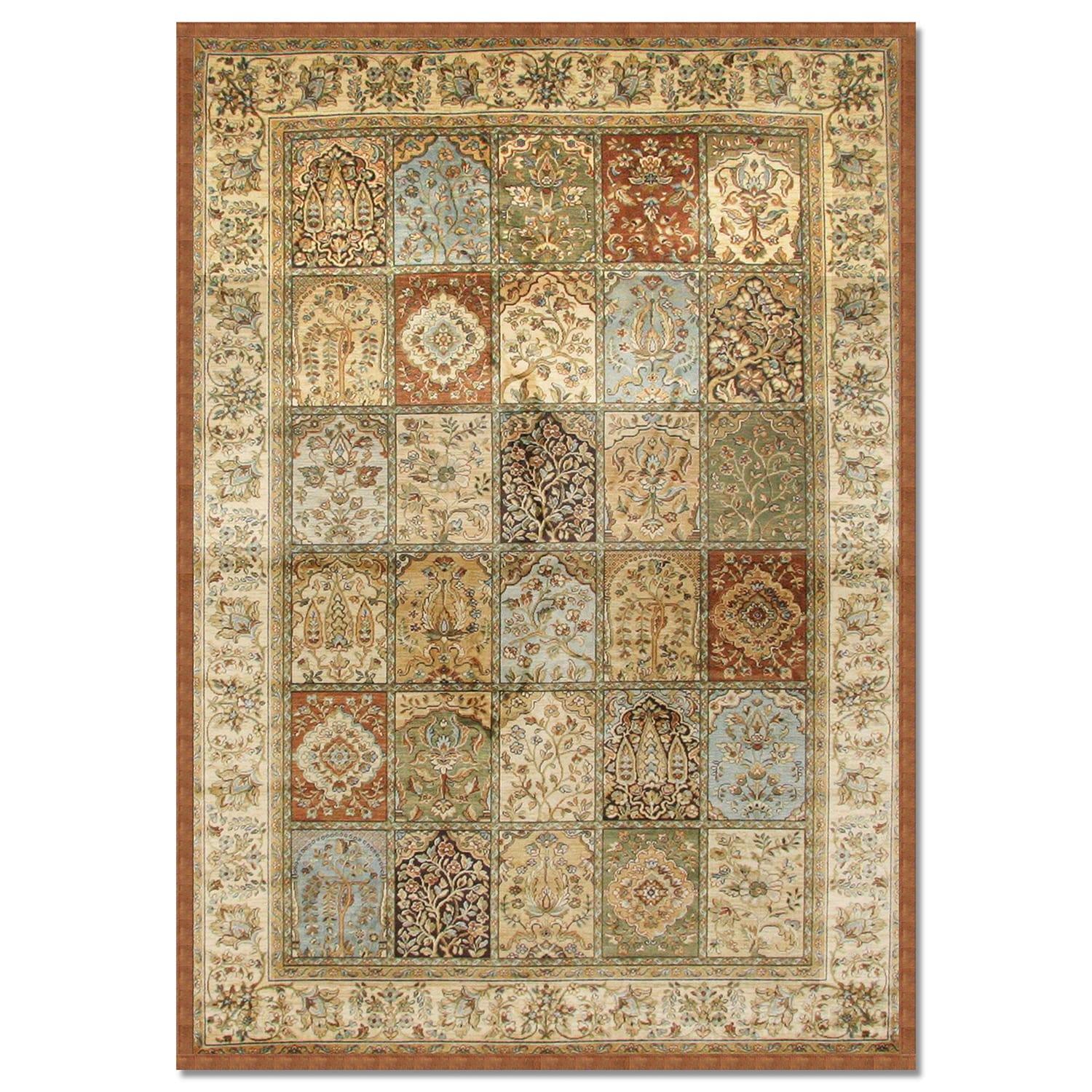 Sonoma mosaic area rugs area rug 8 39 x 10 39 value city for Dining room rugs 8 x 10