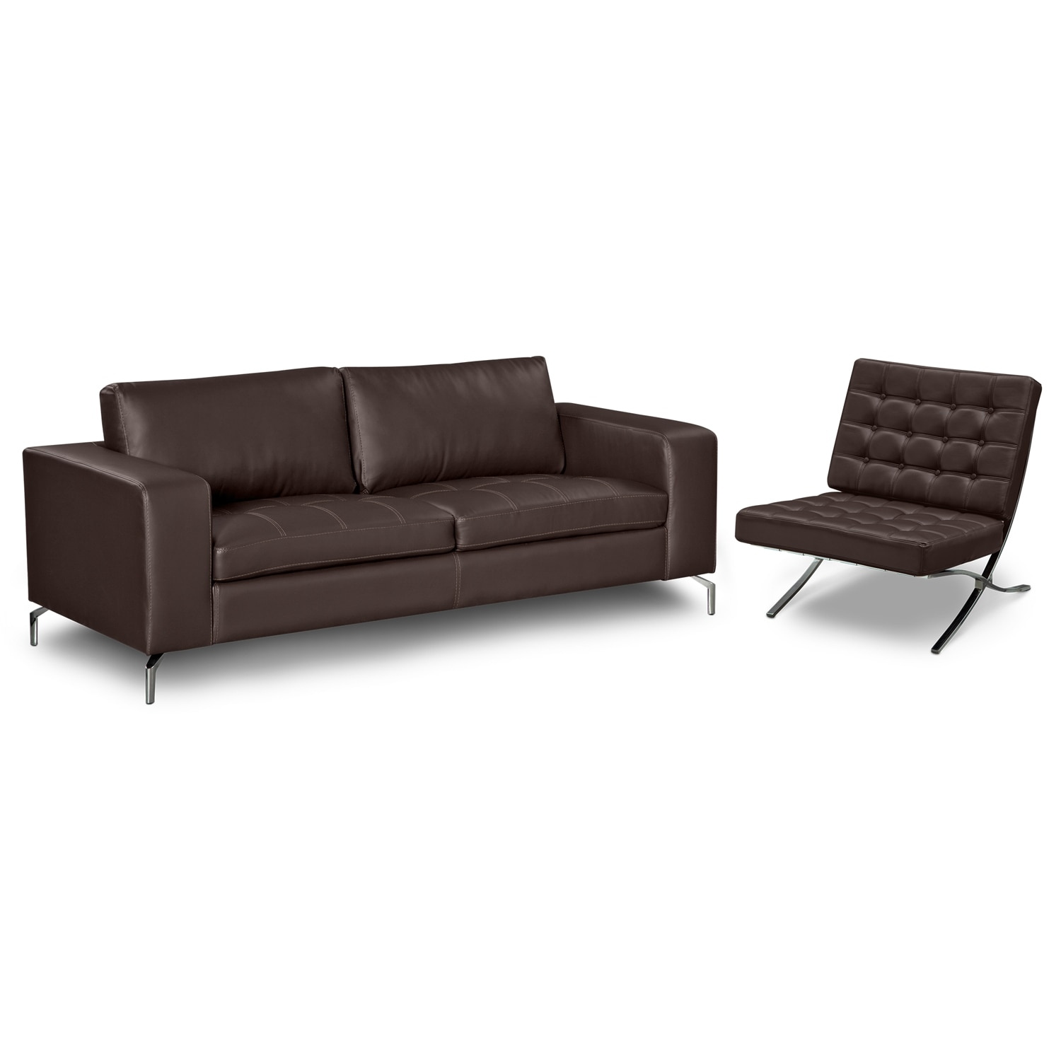 living room furniture mirage godiva 2 pc living room w accent chair