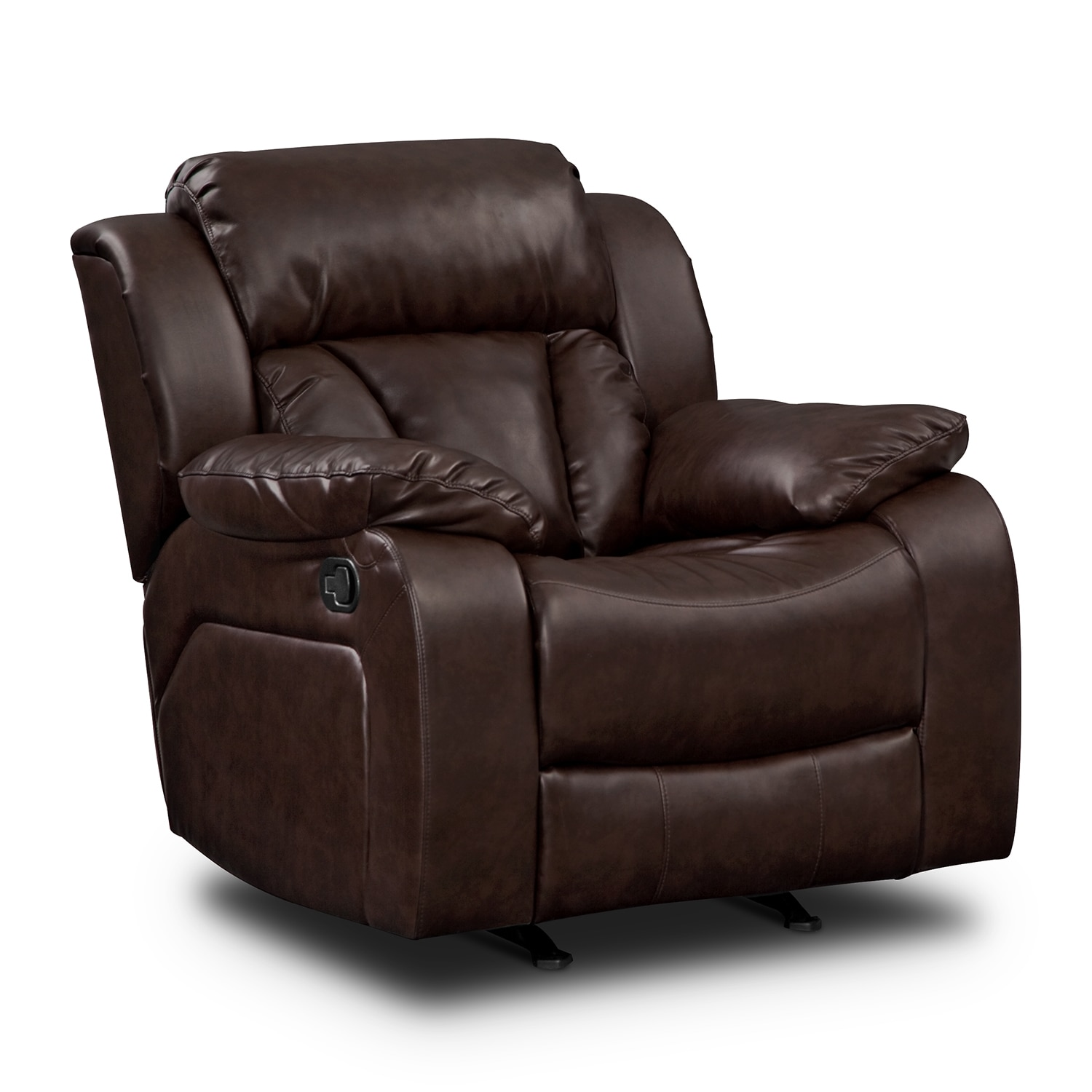 Maverick Leather 2 Pc Reclining Living Room W Rocker Recliner Value City Furniture