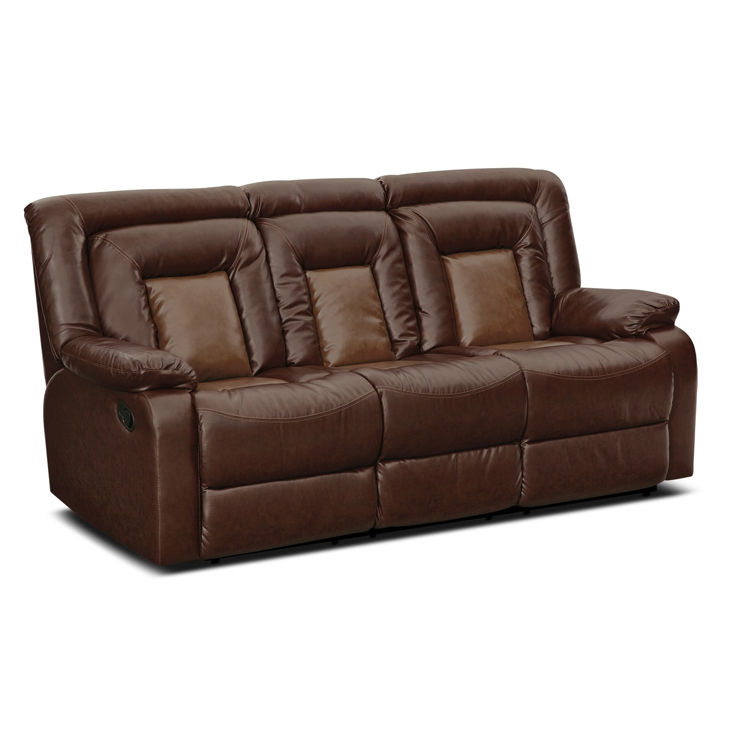 Furnishings for every room online and store furniture for Leather reclining sofa
