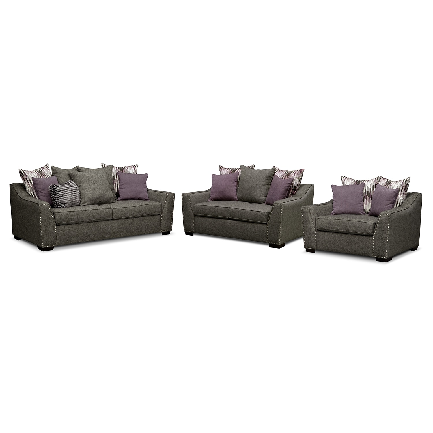 Ritz Upholstery 3 Pc Living Room Value City Furniture