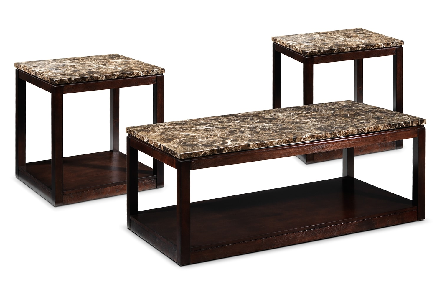 Accent and Occasional Furniture - Spark Lift-Top Coffee Table & Two End Tables Set