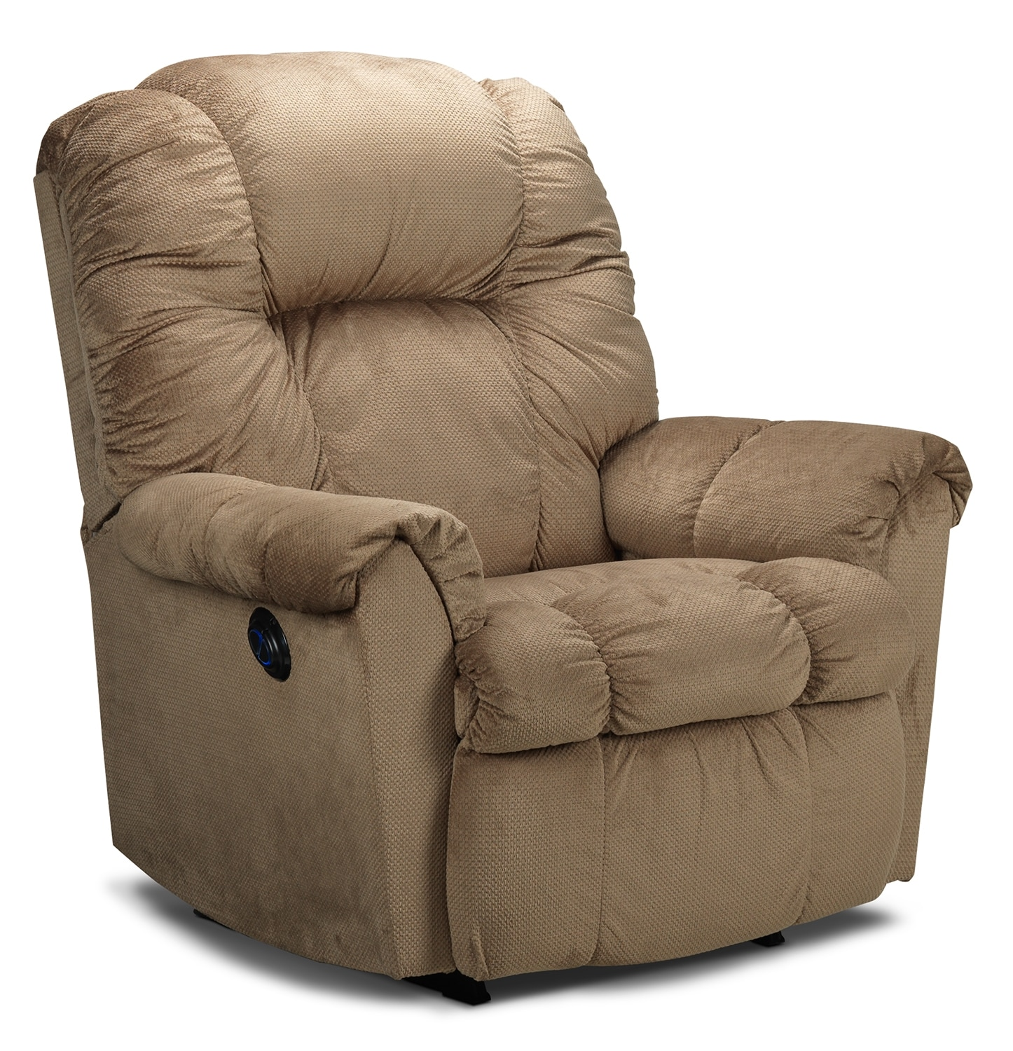 Living Room Furniture - Ghida Power Rocker Recliner - Tan