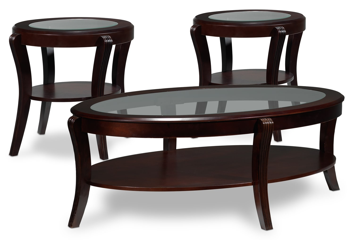 Theo 3-Piece Table Set - Mahogany