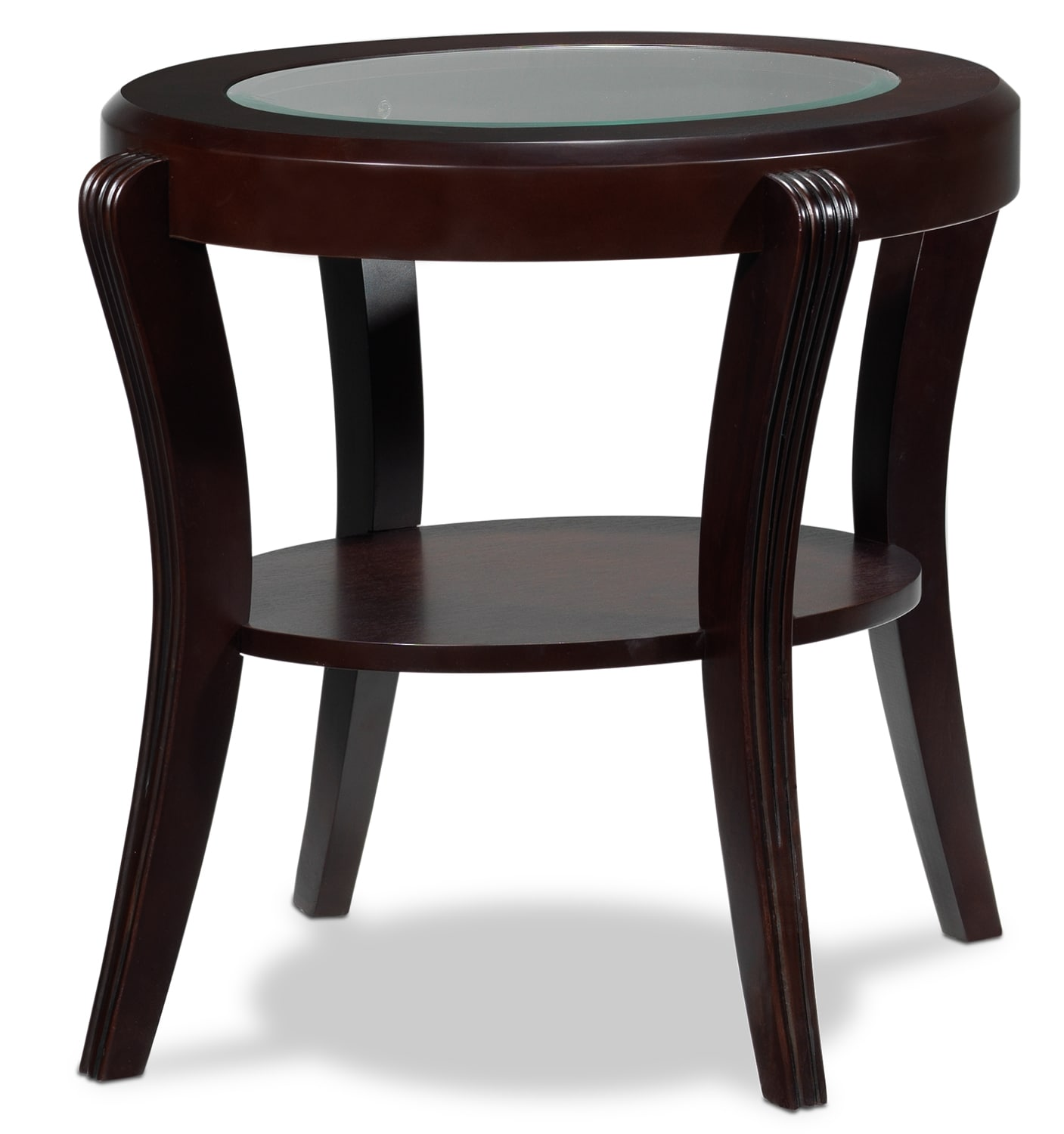 Accent and Occasional Furniture - Theo End Table - Mahogany
