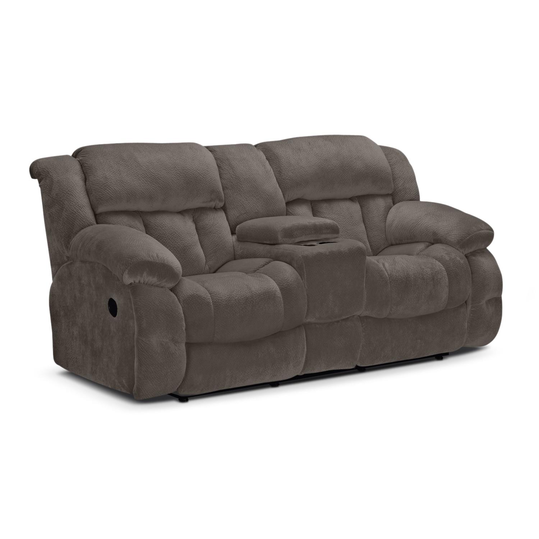 Park City Dual Reclining Sofa, Loveseat And Glider Recliner Set - Gray